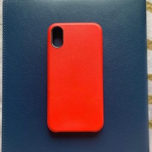 iPhone X/Xs Case Red Leather